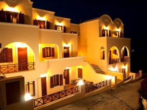 Antonia Hotel Santorini pool summer night